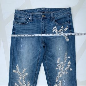 White House Black Market Jeans - WHBM Girlfriend Jeans Embroidered Floral 6
